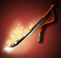 Weapon Comission: Fiery Blade by KyouHantou