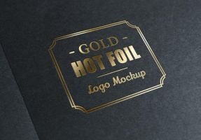 Gold Stamping Logo Mock-Up by GraphicBurger