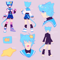 Character Ref-Hoshiko by CaptainStrawberry