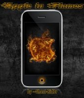Apple in Flames - iPhone4 by Ghost-Rid3r