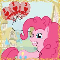 I LOVE YOU - Pinke Pie by Hellbeholder