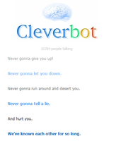 Rick Astley cleverbot by UndertakerisEpic