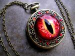 Deluxe Sovereign Pocket Watch - Glowing Fire by LadyPirotessa