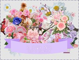 Flower PNGs by OftheCrucified