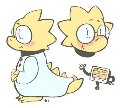 alphys by mushroomstairs