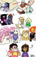 Steven Universe and Undertale crossover  by KayleeA