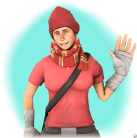 Winter Femscout | TF2 Poster by iSlimed