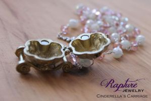 Cinderella's Carriage in Pink and White by RaptureJewelry