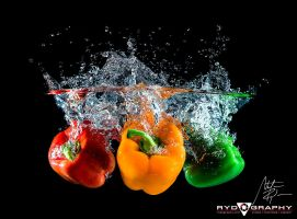 Peppers Splash by rydography