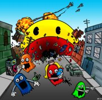 Pac-Man Holocaust by hawanja
