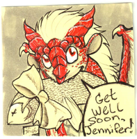 Get Well Soon by TheStickyNoteDoodler