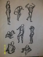 Gesture Drawings - 2 by maeoneechan
