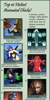 Top Ten Animated Chicks I by Chronorin