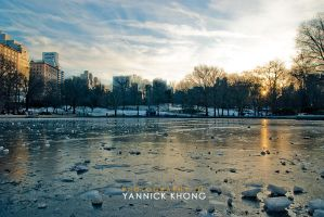 Timeless frozen sunset by confucius-zero