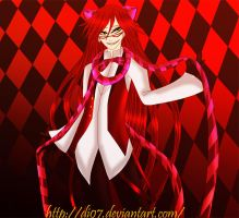 Grell in wonderland by DI07