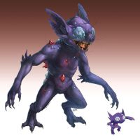 Realistic Pokemon: Sableye by ReneCampbellArt