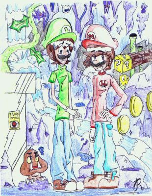 Mario and Luigi World 1-2 (Fixed Color) by GingerBaconCookies