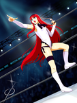 Com Crimson Red Vermillion Akiha Enters the Ring by chou-roninx