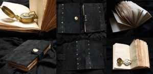 Black leather book by Juchise