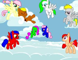 so....many.....pegasi!!! by sonazelover132