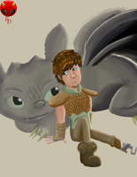 HTTYD 2-Toothless and Hiccup by RisingDiablo