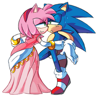 Do you like my dress, Sonic? by ProBOOM