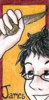 HP Bookmark: James by snow-white-kt