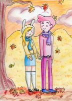 Fionna and Gumball: Fall by Freyamustdie