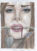 Lana del Rey- coloured version by missalmostperfect