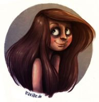 overworked selfportrait ^^ by Iraville