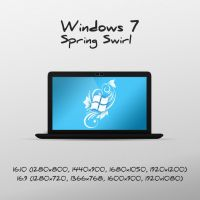 Windows 7 Spring Swirl wallpaper by luisfccorreia