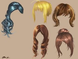 Hair practice by 8Bpencil