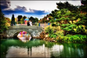 Lovers on the Bridge by VonWong