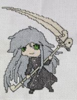 Undertaker cross stitch by SteelLily94