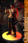 RE6 Pinup - Chris Redfield (The Fireman) by xTh13teeNx