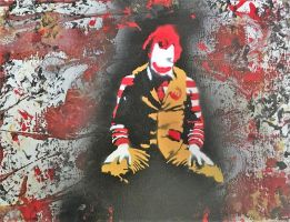 The Joker as Ronald McDonald by Angus4greenie