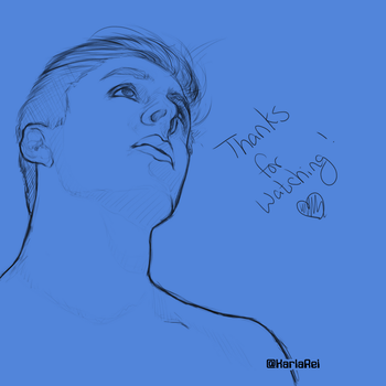 Thomas Sanders Portrait Sketch - 6.14.17 by karlarei2003
