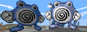Poliwhirl - Minecraft Art by HbubelyArtForms