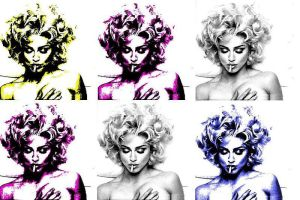 messing with Madonna - Warhol by hollywoodland