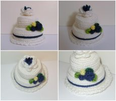 Crochet Wedding Cake by katrivsor
