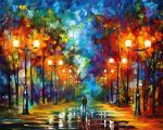 End of winter by Leonid Afremov by Leonidafremov