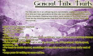 General Traits of Tribe Cats by AriaSnow