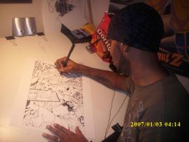 Damion At Work by DamageArts