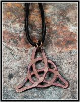 Copper Knot Pendant by OrestesGraphics