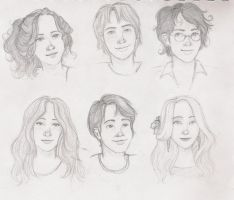Harry Potter characters by hatepotion