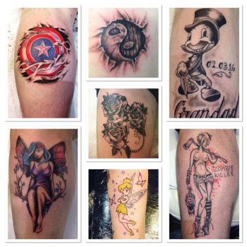 Some recent tattoos by Cloud9images