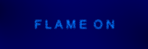 Flame On Blue 5760x1080 by crackruckles
