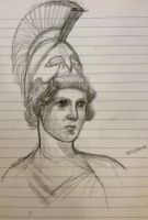 Quick Study 4 - Athena (10 minutes) by ResidentFrankenstein
