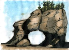 New Brunswick Hopewell Rocks, original by davidj8580