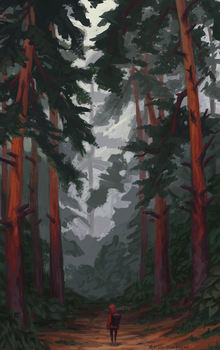 Mysterious Forest by BobShmob